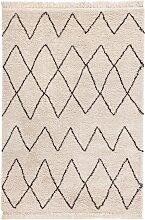 Hochflor Teppich Luisa, beige (60/110 cm)