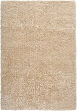 Hochflor Teppich mit besonders dichtem Flor, beige