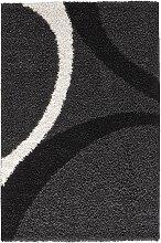 Hochflor Teppich Patsy, grau (80/150 cm)