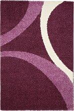 Hochflor Teppich Patsy, lila (66/130 cm)