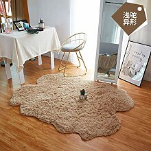 Hochfloriger zotteliger Teppich Teppich mit