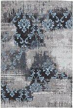 HOCHFLORTEPPICH  Blau, Grau 250/350 cm