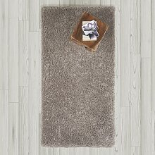 Hochflorteppich in Grau ca. 80x150 cm