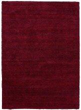 Hochflorteppich LIVORNO 90 x 160 cm in Rot meliert