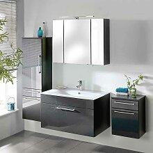 Hochglanz Badezimmermöbel in Anthrazit komplett