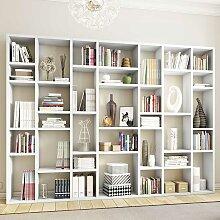 Hochglanz Bücherwand in Weiß modern