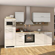 Hochglanz Küchenblock in Weiß Eiche Sonoma