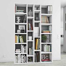 Hochglanz Regal in Weiß Wohnzimmer