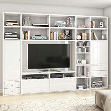 Hochglanz Regalwand für Fernseher Weiß