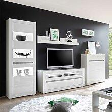 Wohnwand Grau Hochglanz Gunstig Online Kaufen Lionshome