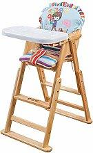 Hochstuhl, Baby-Essstuhl, Vollholz-Kindersitz,