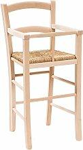 Hochstuhl mit Strohgeflecht-Sitzfläche 43 x 43 x 91 cm