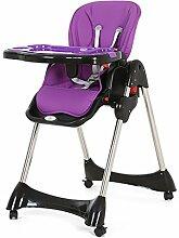 hochstuhl Multifunktionsfaltbarer Babystuhl, purpurroter Portable kann Babyhochstuhl chicco liegen (Größe: 57 * 76 * 82cm) kinder-hochstühle