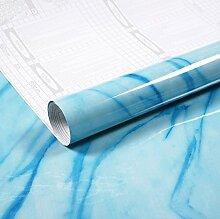 Hochtemperaturstabiles Selbstklebende Aufkleber Küche Lampblack Öl - Maschine Mit Marmor Kachelofen Wand Wasserdicht Kabinett,Blue Marble,60Cm * 3 Meter Brei