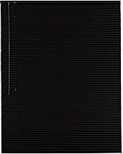 Hochwertige Aluminium Jalousie Jalousette Rollo 160 x 230 cm / 160x230 cm in Farbe schwarz - Bedienseite links // Fensterjalousie / Fensterjalousette / Alulamellen / Alu-Lamellen