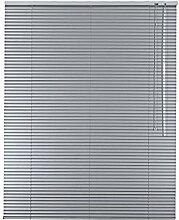 Hochwertige Aluminium Jalousie Jalousette Rollo 165 x 200 cm / 165x200 cm in Farbe silber - Bedienseite rechts // Fensterjalousie / Fensterjalousette / Alulamellen / Alu-Lamellen