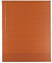 Hochwertige Aluminium Jalousie Jalousette Rollo 215 x 170 cm / 215x170 cm in Farbe orange - Bedienseite links // Maßanfertigung / Fensterjalousie / Fensterjalousette / Alulamellen / Alu-Lamellen