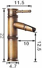 Hochwertige Designer Wasserfall Waschbecken Waschtisch Armatur Armaturen Deck montiert Bambus Form Mischbatterien