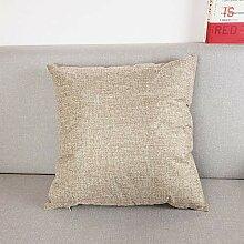 Hochwertige Einfarbige Leinen Sofa Kissen Kissen