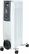 hochwertige Elektro Rippenheizung - Öl-Radiator - 7 Rippen Elektro-Heizung - 1,5KW mobile Elektroheizung auf Rollen - energiesparsame Raum E-Heizung - Neu und OVP!