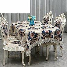Hochwertige europäische,tischtuch,luxuriöse amerikanische,tischdecke für restaurant,untersetzer,runde tischdecke-A 45x50cm(18x20inch)