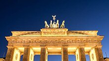 Hochwertige Fototapete - Brandenburger Tor in