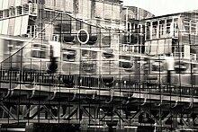 Hochwertige Fototapete - Kunstcollage von Hamburg