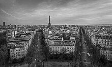 Hochwertige Fototapete - Paris Panoramablick I