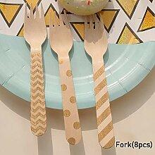Hochwertige Gold Birthday Party Pappteller Tasse