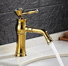 Hochwertige goldene Messing Waschbecken Wasserhahn