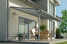 Hochwertige graue ALU Terrassenüberdachung /