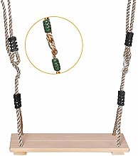 Hochwertige Holzschaukel mit Seilen, belastbar bis