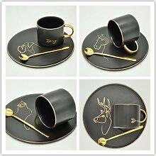 Hochwertige Kaffeetassen Porzellan mit Unterteller