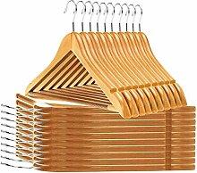 Hochwertige Kleiderbügel aus Holz – leicht