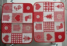 Hochwertige Konfektionierte Tischwäsche: 2 Platzdeckchen Patchwork, 35 x 45 cm