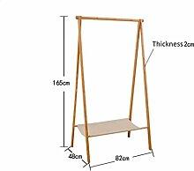 Hochwertige Landung Bambus Mantel Racks Faltbare Schlafzimmer Einfache Schuh Rack Kombi Kleiderbügel