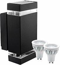 Hochwertige LED Wandleuchte UpDown Aluminium inkl.