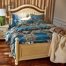 Hochwertige luxus-seide decken set european bettwäsche-kollektion comforter set -A King