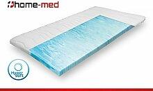 Hochwertige Matratzen-Topper HomeMed Hypersoft Topper Light 180 x 210 cm aus Deutscher Herstellung, boxspring-topper Matratzenauflage für Boxspring-Betten, Komfortschaum-Topper. Höhe 6 cm