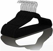 Hochwertige Samt-Kleiderbügel (50 Stück),