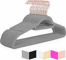 Hochwertige Samt-Kleiderbügel (50 Stück)