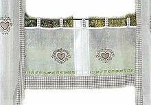 hochwertige Scheibengardine 45x120 cm LANDHAUSstil