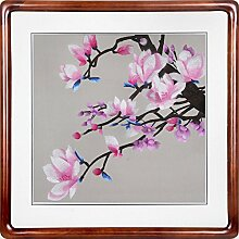 Hochwertige Seidenstickerei Malerei Gebaut Dekoration,Rosa