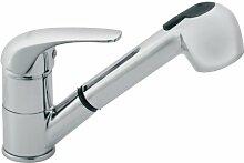 Hochwertige Spültischarmatur Küchenarmatur -Hochdruckarmatur Einhebel Armatur mit Brause ausziehbar Chrom von Ferro