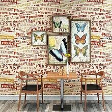Hochwertige Upscale American Graffiti englischen Buchstaben Vliesstoff wallpaperCafe Restaurant bietet Kinderzimmer Schlafzimmer Tapete
