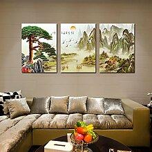 Hochwertige Wandschmuck (Gaze Film) Moderne dekorative Malerei Wohnzimmer Frameless Malerei Sofa Hintergrund Wandmalerei ( farbe : #4 , größe : 60*80 )