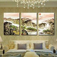 Hochwertige Wandschmuck (Gaze Film) Moderne dekorative Malerei Wohnzimmer Frameless Malerei Sofa Hintergrund Wandmalerei ( farbe : #5 , größe : 60*80 )