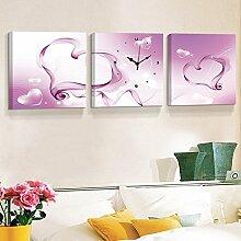 Hochwertige Wandschmuck Wohnzimmer Sanlian Frameless Malerei Wanduhr Schlafzimmer Dekorative Malerei Sofa Hintergrund Wandmalerei ( farbe : 1004 , größe : 40*40cm )