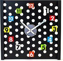 Hochwertige XXL Gelochte Wanduhr mit Bunten Magnet Zahlen
