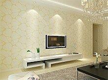 hochwertigen Vliestapete Wohnzimmer Flur Schlafzimmer Muster Beflockung Tapete Rolle Dekorative Tapete Rolle 0,53m (52,8cm) * 10Mio. (32,8') = 5,3& # x33a1M; (M³), Pearl beige, 0.53m*10m